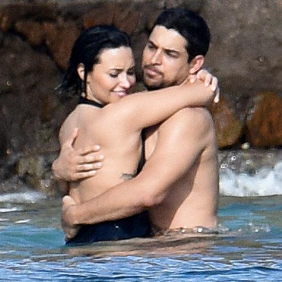 Demi Lovato and Wilmer Valderrama Kissing in St. Barts 2015