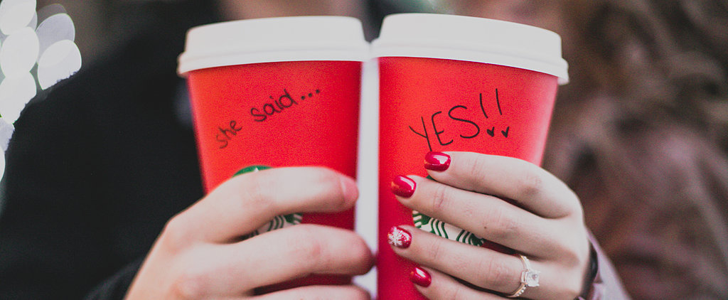 This Christmas Engagement Shoot in New York Is Pretty Adorable