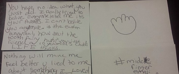 Little Girl Writes an Epic Angry Letter to Her Parents After Discovering the Truth About Santa