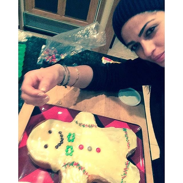 Camila Alves made a giant gingerbread cookie for her children.