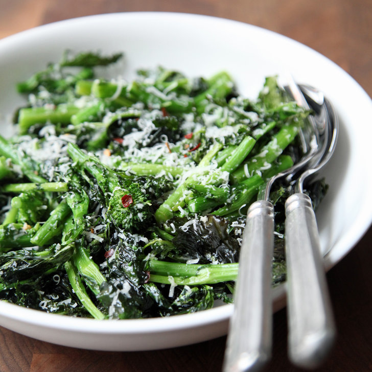 Roasted Broccoli Rabe With Lemon and Parmesan | POPSUGAR Food