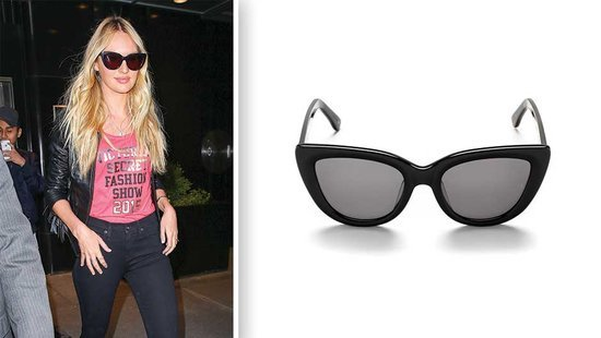 Don't Go Somewhere Warm Without Candice Swanepoel's Cat-Eye Sunglasses