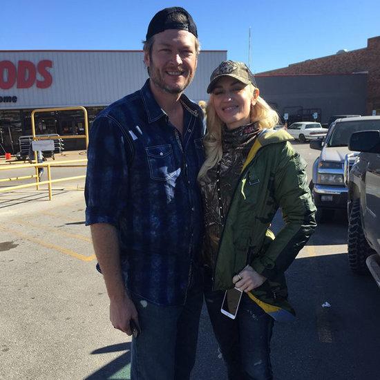 Blake Shelton and Gwen Stefani in Oklahoma December 2015
