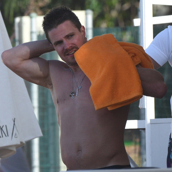 Stephen Amell Shirtless Pictures in St. Barts December 2015