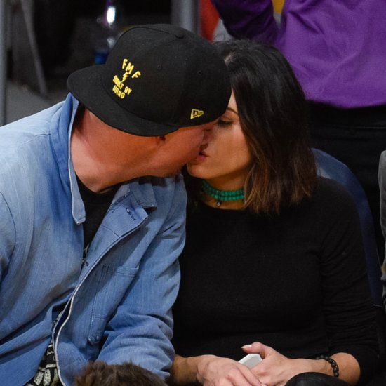 Channing Tatum and Jenna Dewan Kiss at Lakers Game 2015