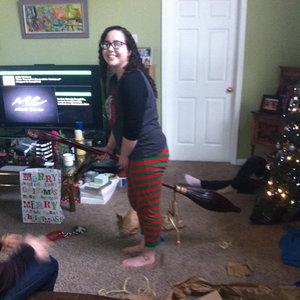 Boyfriend Gives Handmade Nimbus 2000 as a Christmas Gift