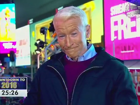 Kathy Griffin Continues to Poke Fun at Anderson Cooper on New Year's Eve - by Spray-Painting His Face!