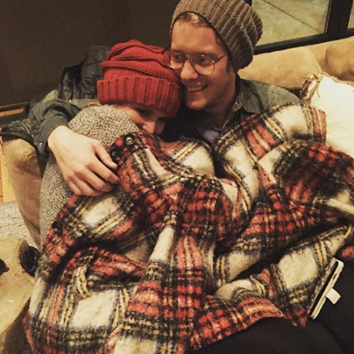 Miranda Lambert and Anderson East Cuddling Picture
