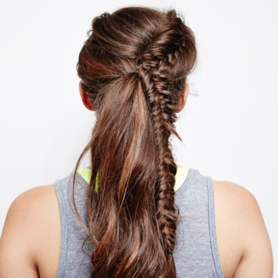 French Fishtail Braid Ponytail