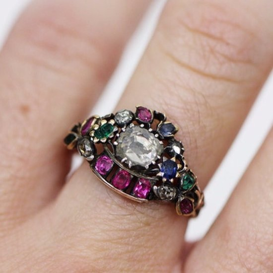 These Engagement Rings Will Inspire You to Choose a Rainbow-Colored Rock