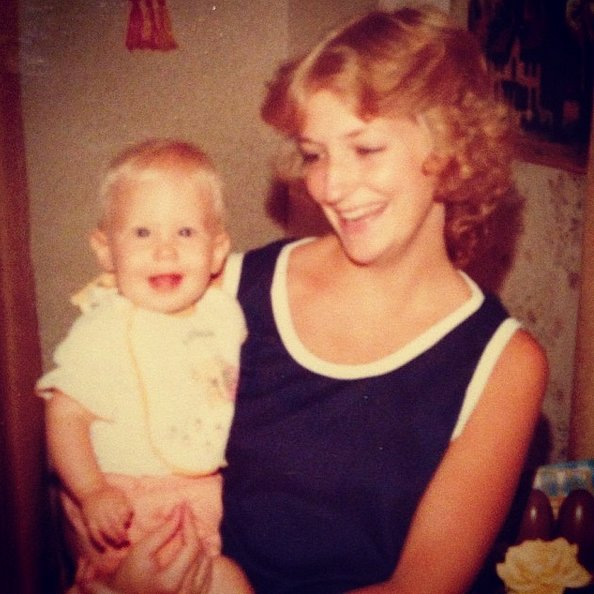 """""""#fbf to my first year, happy as a clam, because my Mommy was the best!! HAPPY BIRTHDAY MOM! I love you! #happyasclamsstill"""""""