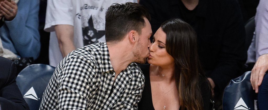 Lea Michele Shows Major PDA With Her Boyfriend at the Lakers Game