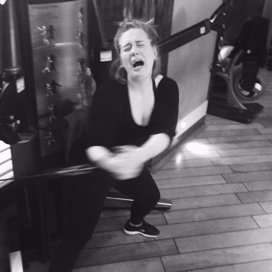 Adele Working Out Instagram