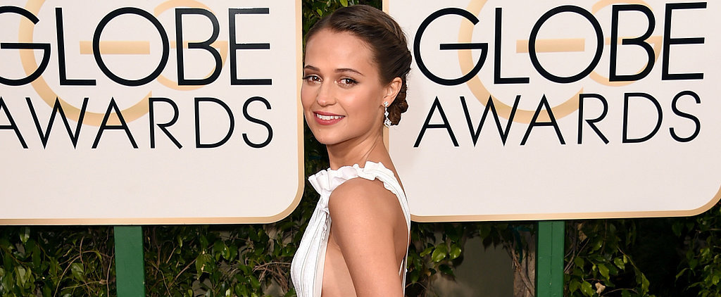 Alicia Vikander Wears the Chicest Apron Dress We've Ever Seen to the Golden Globes