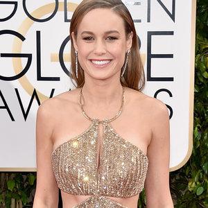 Brie Larson's Calvin Klein Dress at Golden Globes 2016
