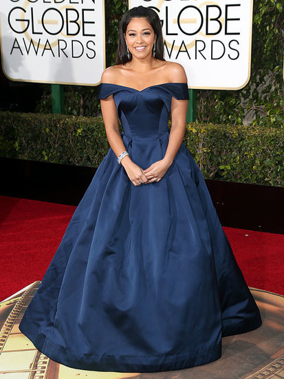 Gina Rodriguez Sends a Personal Thanks to Zac Posen for Her Gown