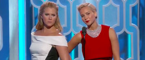 Amy Schumer and Jennifer Lawrence Joke Around Like Sisters at the Golden Globes