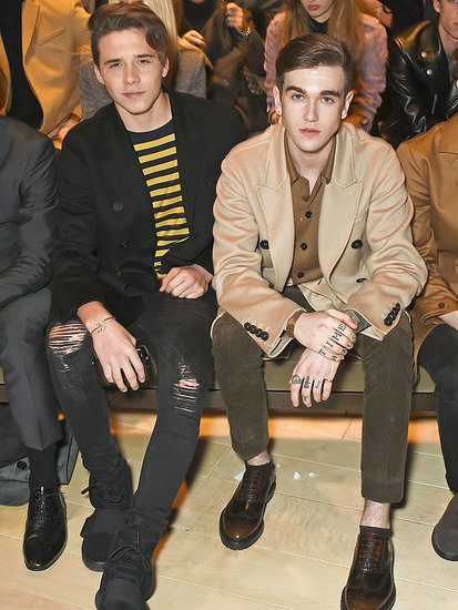 Brooklyn Beckham and Gabriel Day-Lewis Are the Spitting Image of Their Famous Dads Front Row at Burberry