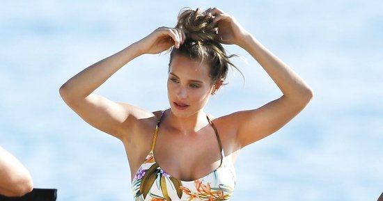 Hannah Davis Shoots Sports Illustrated in Two Sexy Swimsuits
