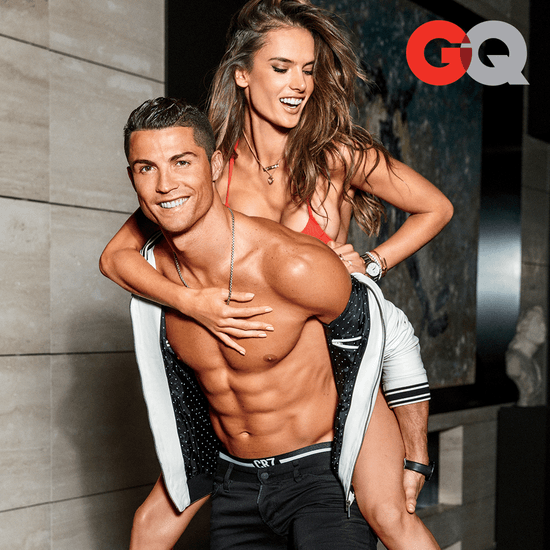 Alessandra Ambrosio and Cristiano Ronaldo GQ Cover 2016