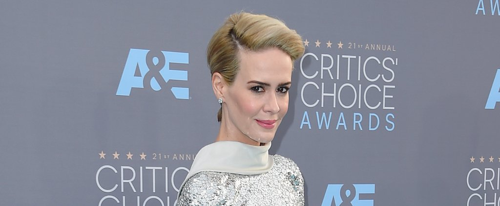 Sarah Paulson's Edgy Updo Is a Genius Way to Use Bobby Pins