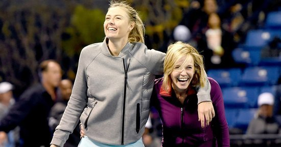 Chelsea Handler Joins Maria Sharapova on the Tennis Court