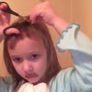 Little Girl Cuts Her Own Hair
