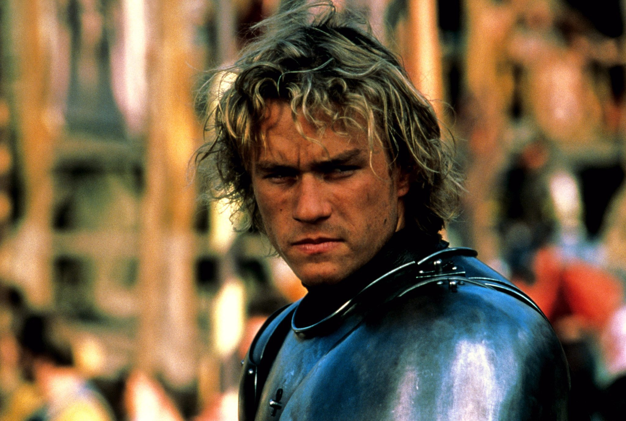 Suited up as William Thatcher in A Knight's Tale.