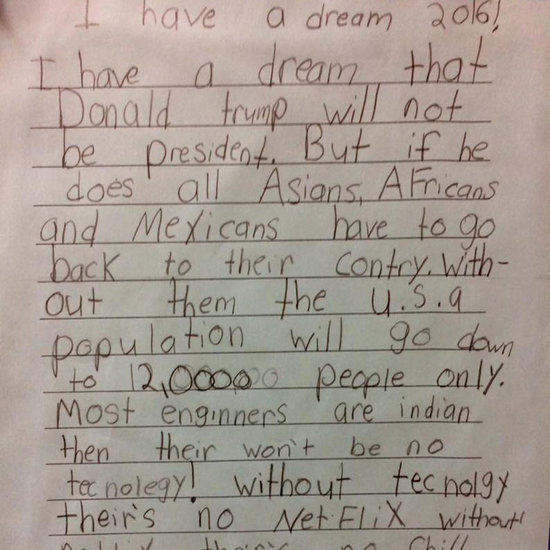 Third Grader Writes Netflix and Chill Note