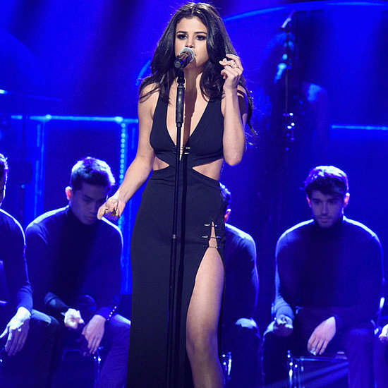 Selena Gomez's Black Slit Dress on SNL