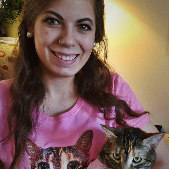 Cat Wearing T-Shirt With Owner's Face