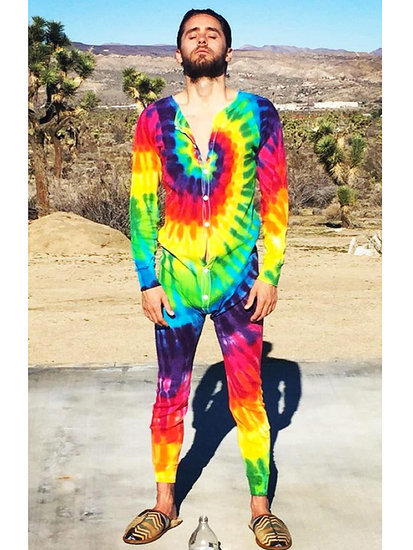 Jared Leto's Tie-Dye Onesie Will Make Your Monday So Much Better