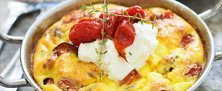 Roasted Tomato, Italian Sausage, and Ricotta Frittatas Are Made For Weekend Brunch
