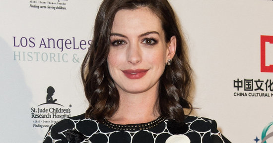 Anne Hathaway's First Pregnant Red Carpet Appearance Is Magically Mod