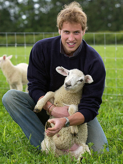 These Photos of Prince William Cradling a Little Lamb Circa 2004 Are a Gift To Us All