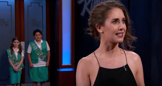 Watch Alison Brie Sell Jimmy Kimmel 400 Boxes of Girl Scout Cookies