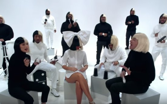 FROM EW: Natalie Portman and Jimmy Fallon Dress Up as Sia for an Epic Singalong with Sia Herself!