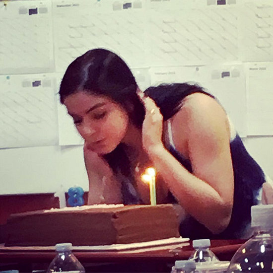 Ariel Winter Celebrates 18th Birthday with a Cake and Her Costars on Modern Family Set