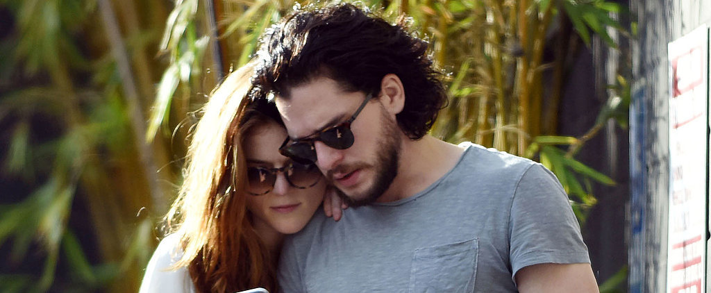 Kit Harington and Rose Leslie Kiss and Hold Hands During an Outing in LA