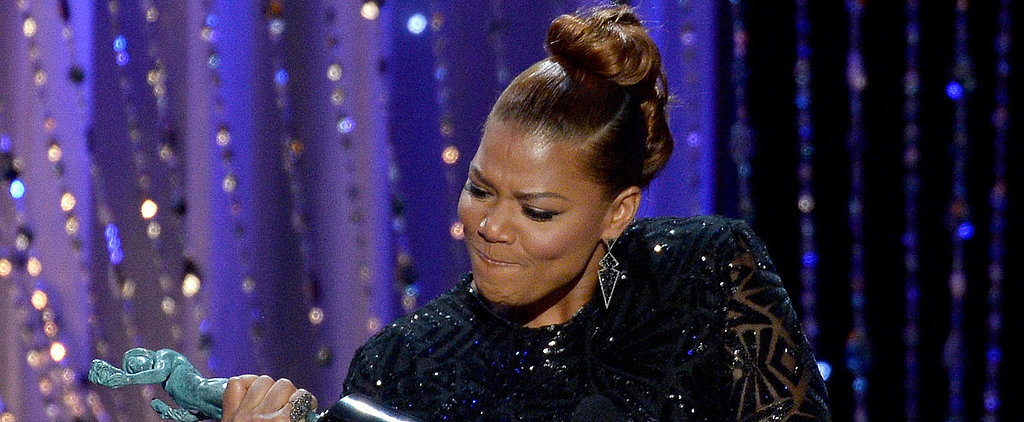 Watching Queen Latifah Do Bicep Curls With Her SAG Award Will Give You Life