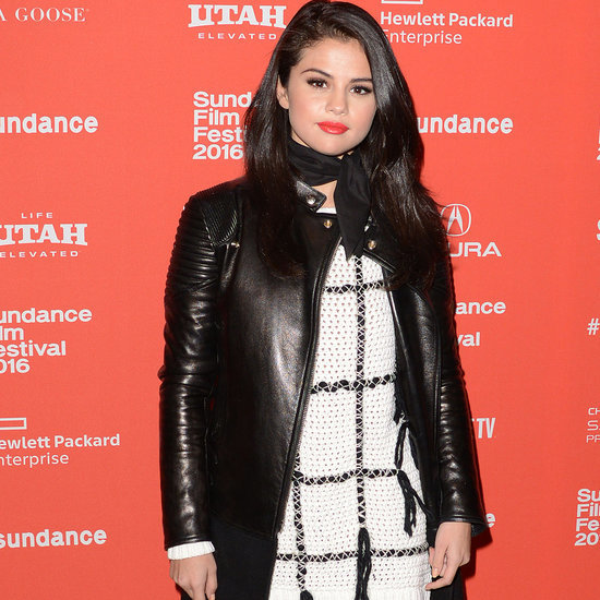 Selena Gomez in a Sweater Dress at Sundance