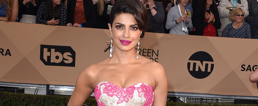 Priyanka Chopra's Ladylike SAG Awards Gown Will Inspire You to Embrace Lace — and Pink
