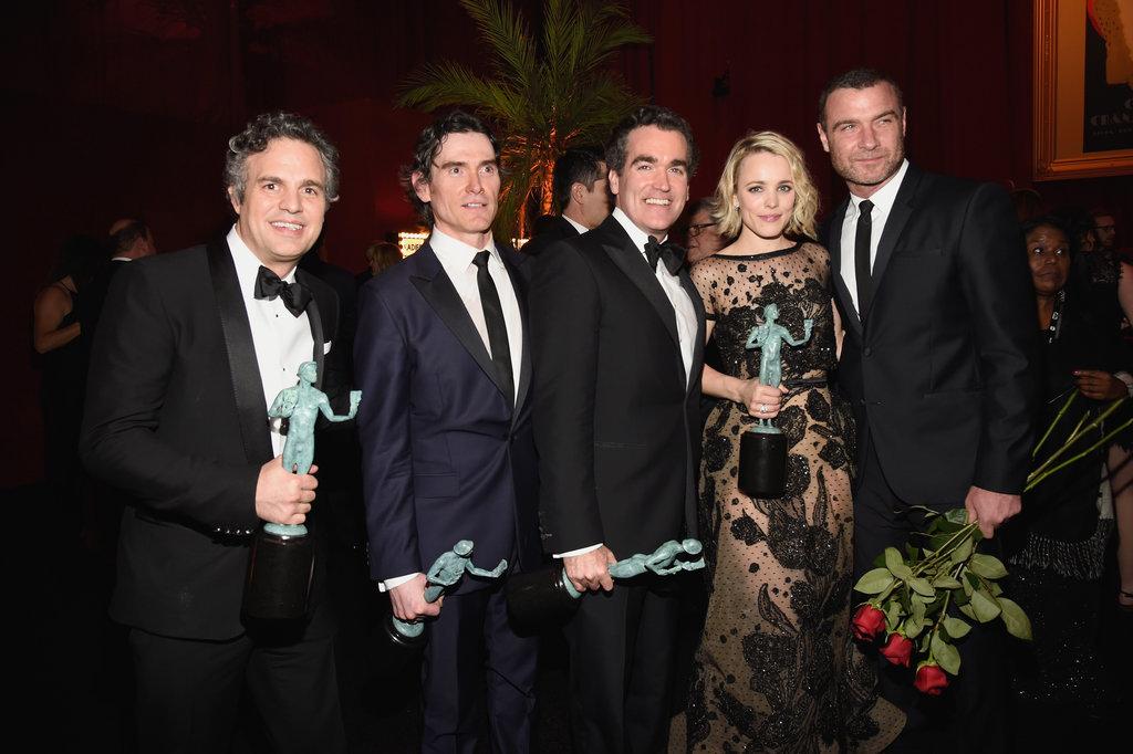 Pictured: Liev Schreiber, Rachel McAdams, Mark Ruffalo, Billy Crudup, and Brian d'Arcy James