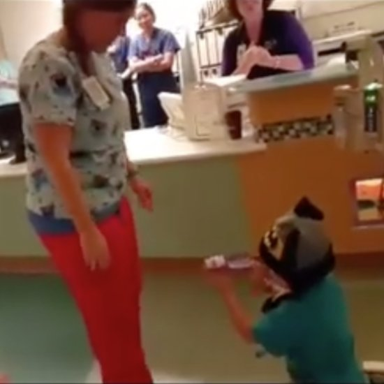 Boy With Leukemia Proposes to His Favorite Hospital Nurse