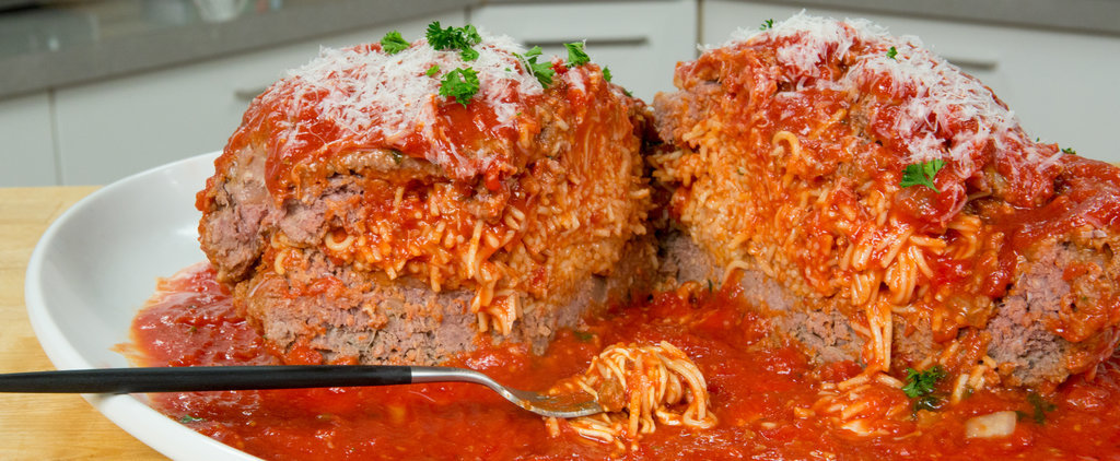 Eat the Trend: Giant Meatball Stuffed With Spaghetti