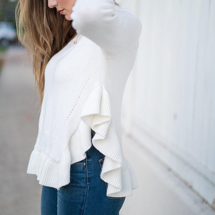 ロマンティックなフリルトップス | 裾フリルor肩フリルどっちを着る?