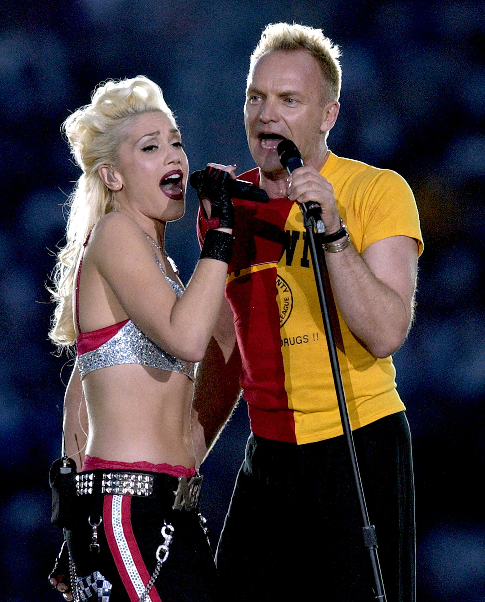 """Gwen Stefani joined Sting to sing """"Message in a Bottle"""" in 2003."""