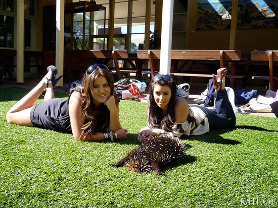 Khloé Kardashian Reminisces About Her First Trip to Australia with a Cuddly #TBT