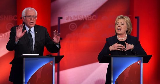 Simmering Tensions Erupt In First Face-Off Between Hillary Clinton And Bernie Sanders