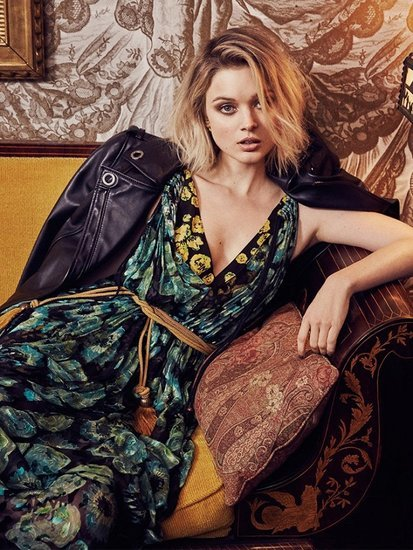 Bella Heathcote Takes on Spring's Most Valuable Print